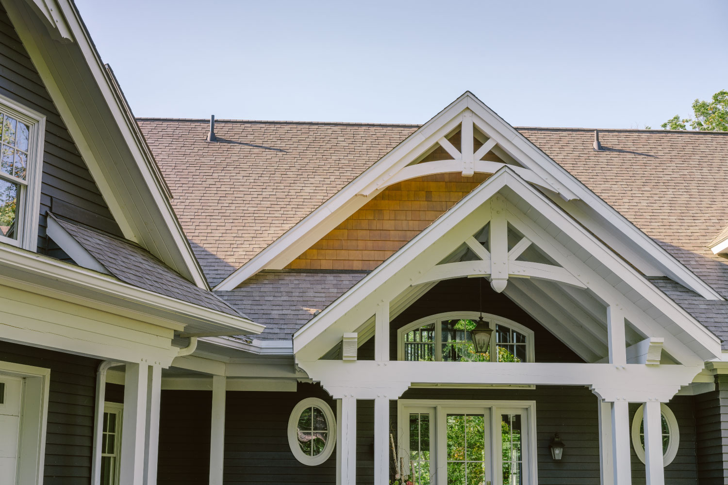 timberthane finished home with dark siding