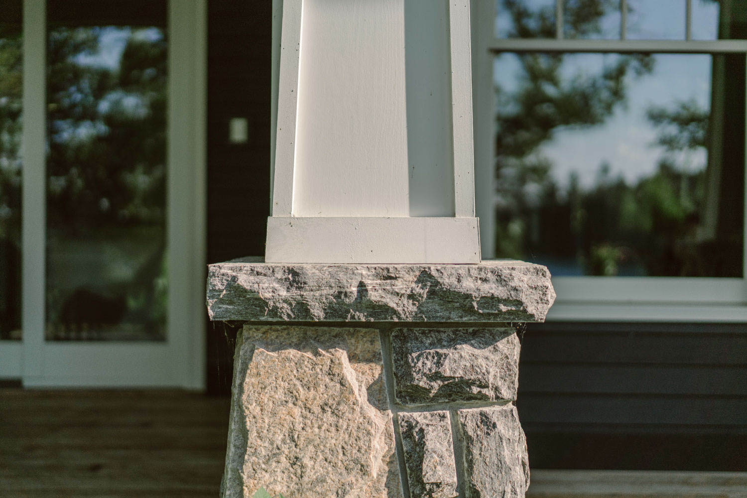 timberthane trim details with stone
